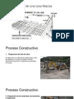 Proceso Constructivo Losa Maciza