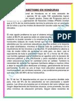 Analfabetismo en Honduras Sociologia