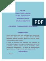 Planificacion Familiar Disenos Intrucciona Taller 1