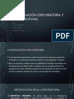 Investigación Exploratoria y Correlacional