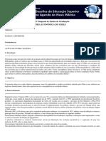 Breve Panorama Da História Econõmica Do Chile