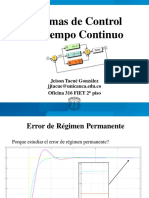 1.3 Error de Regimen Permanente