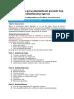 Rubrica Proyecto Final_2018_Evaluacion de Proyectos