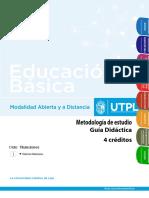 METODOLOGIA GUIA DIDACTICA UTPL