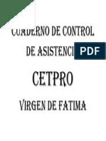 Cuaderno de Control de Asistencia