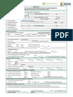 Anexo 1 Formulario Unico Solicitud o Modificación Licencia Ambiental