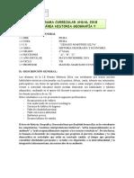 Programa Curricular Historia Geografía y Economía Anual Cuarto Secundaria 2018