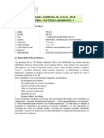 Programa Curricular Historia Geografía y Economía Anual Tercero Secundaria 2018