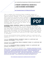 Accounting Theory Conceptual Issues in a Political and Economic Environment
