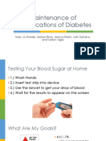 maintenance of complications of diabetes