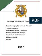 Informe Del Viaje a Tingo Maria
