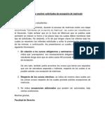 Criterios Para Resolver Solicitudes de Excepción de Matrícula 1