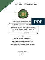 Tesis Diseño de Malla Para Perforación y Voladura de Frentes Utilizando Modelo Matemático de Holm