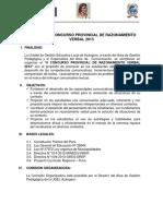 Bases Del II Concurso Provincial de Razonamiento Verbal 2013