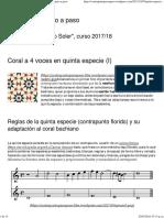 Coral a 4 Voces en Quinta Especie (I) _ Contrapunto Paso a Paso