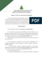 Edital - Mestrado Constitucional - Ufrn - 2018