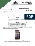 Camshaft Wear Inspection