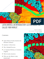 UGALDE, Francisco. LATIN AMERICA- An Introductory Talk About the Called New World.