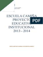 2014 Proyecto Educ.institucional Escuela Camiña.doc PEI (1)