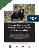 Unidades de Conservación Prioritarias Del Oso Andino en Bolivia y en Perú