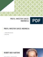 Profil Investor Sukses Indonesia