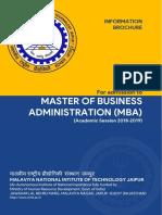 MBA Brochure 2018 19