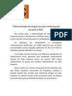 Administração de Drogas No Tubo Endotraqueal Durante a PCR