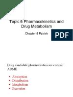 Topic 6 Pharmacokinetics and Drug Metabolism.pdf