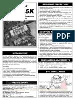 Duratrax Esc 15k Manual