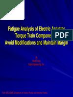Fatigue Analysis Electric Actuator