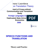 Speech Functions and Translation
