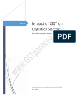 Impact of GST on Logistics
