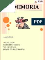 LA MEMORIA Psicología Exposición