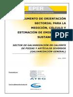 Documento de Orientación Sectorial Para La Medición, Cálculo o Estimación en El Sector de Galvanización-B58165BF51317168
