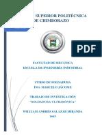 Trabajo de Investigación Soldadura Ultrasónica