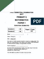 P6 Maths SA1 2017 Nanyang Exam Papers