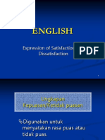 Expression of Satisfaction and Dissatisfaction