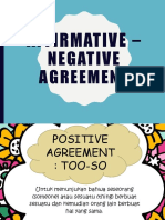 Affirmative Negative Agreement