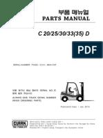 C20-35D (Lot No _ 9843) clark forklift
