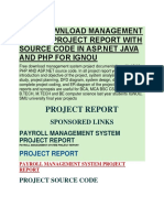Management System Project Report With Source Code in ASP