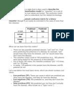 Confusion Matrix Notes
