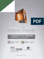 Dossier de Prensa Fimma Maderalia 2018