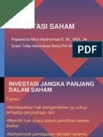 Investasi Jangka Panjang Saham