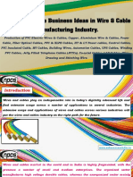 List Of Profitable Business Ideas In Wire Cable Manufacturing Industry