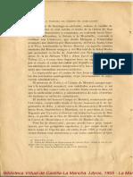 La Mancha en Tiempo de Cervantes Conferencia Leída El Día 3 de Mayo de 1905 en La Velada Que La Real Sociedad Geográfica Dedicó a Conmemorar La Publicación Del Quijote de La Mancha