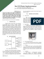 Self Propelled 2D Plotter Implementation