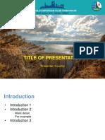 10th EurCOLD Symposium-Oral Presentation Template