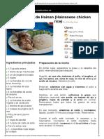 Arroz Con Pollo de Hainan (Hainanese Chicken Rice)