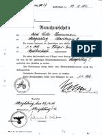 Annahmeschein Luftwaffe KH