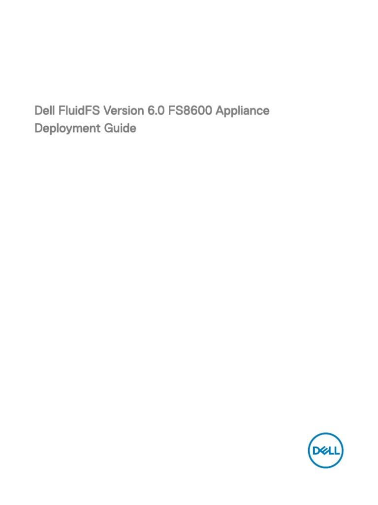 Dell Compellent Fs8600 Deployment Guide2 en Us | Network